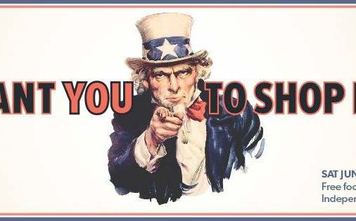Uncle Sam Wants You to SHOP LOCAL